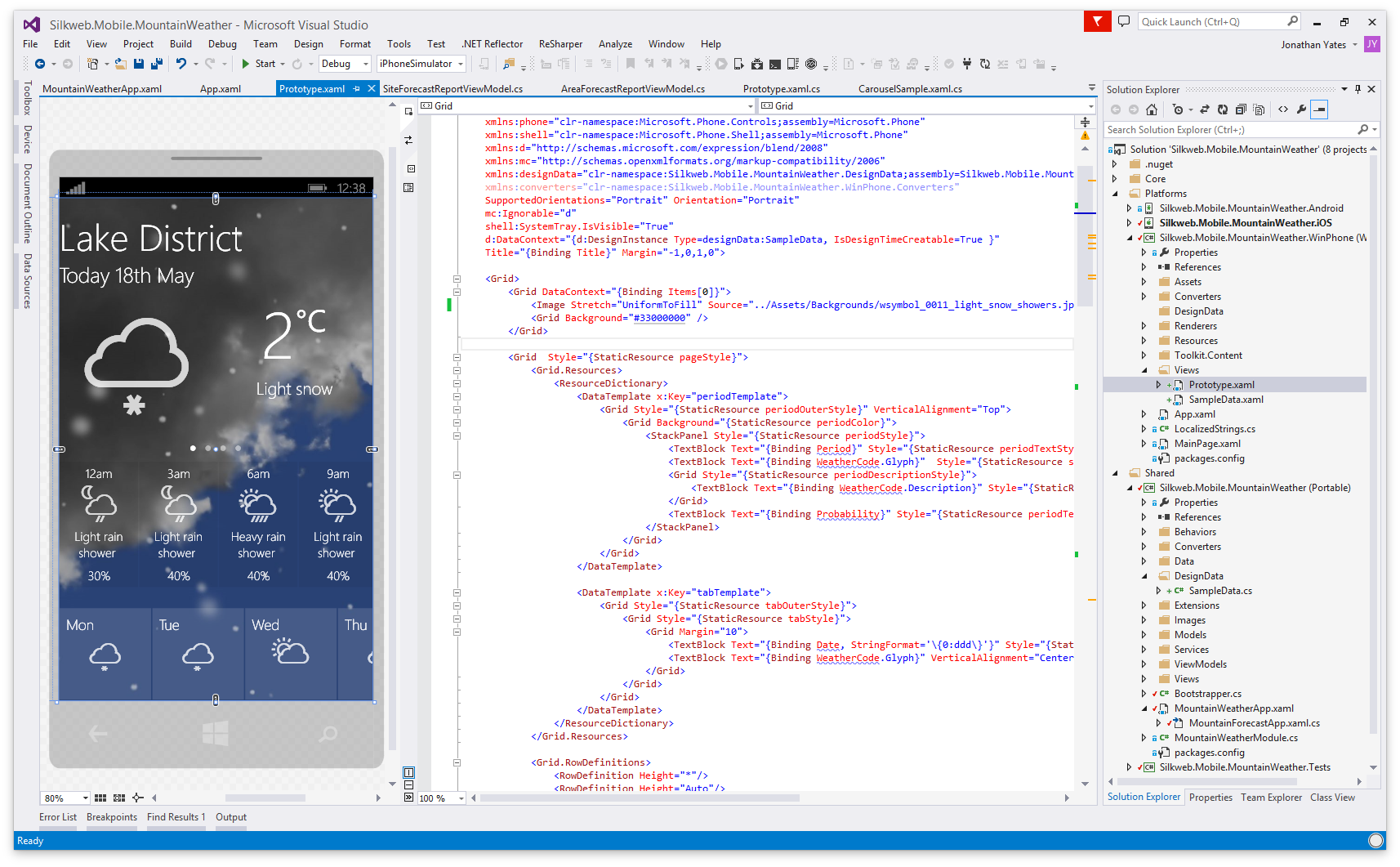 Xamarin Forms Scrollable Grid